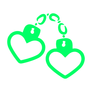 Handschelle Herz Symbol Gefangen