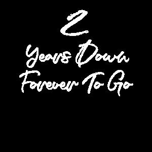 Lustiger 2. Jahrestag verheiratet 2 Jahre nach unten