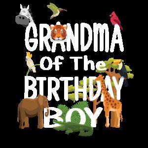 Oma des Geburtstagskind-Zoo-Thementieres