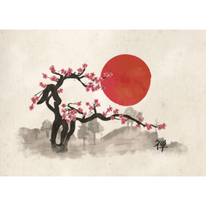Sakura-Blütenlandschaft