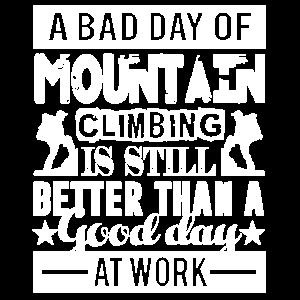 Bergsteigen Ein schlechter Tag des Bergsteigens