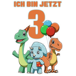 Süße Dinosaurier - 3 Jahre Kindergeburtstag