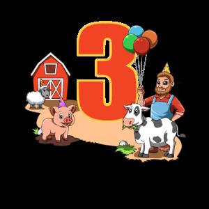 Bauernhof und Tiere - 3 Jahre Kindergeburtstag