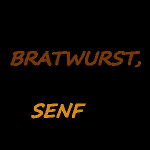 Bratwurst mit Senf. Geschenk