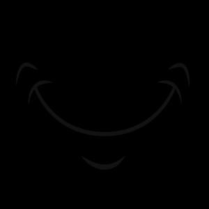 Lachen Mund Gesichtsmaske