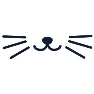 Gesichtsmaske Katzenmotiv