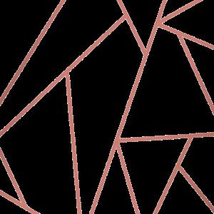 Kupfer und weißer geometrischer Hintergrund