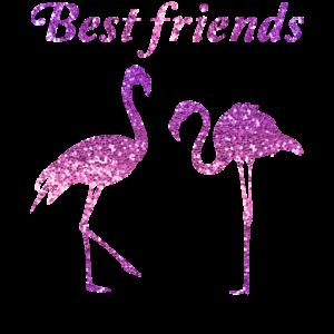 Best Friends Flamingo Freundschafts Geschenk