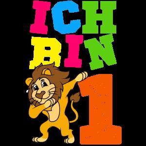 Ich Bin 1 Dabbing Löwe Jungen Geburtstag