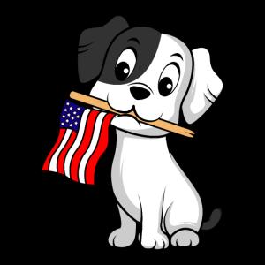 Dog Flag America Amerikanische und Hundeliebhaber