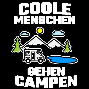 Campen Cooler Spruch Urlaub Camping