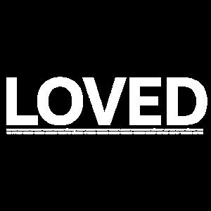 LOVED - GELIEBT - unterstrichen von Bibelstellen