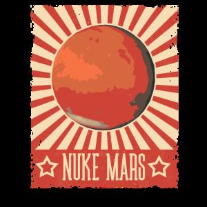 Vintage Nuke Mars Retro Occupy Mars