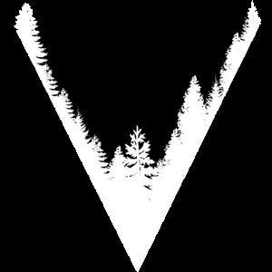 Minimalistisch Wald