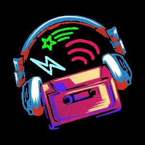 90er Neon Kassette