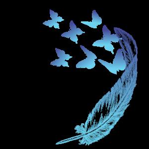 Schmetterlinge mit Feder