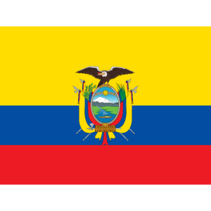 Mund- mit der Flagge Ecuador