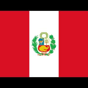 Mund- mit der Flagge Peru