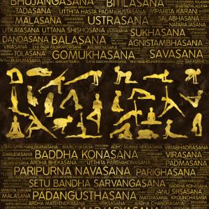 Yoga Asanas / Posen Sanskrit Wortkunst
