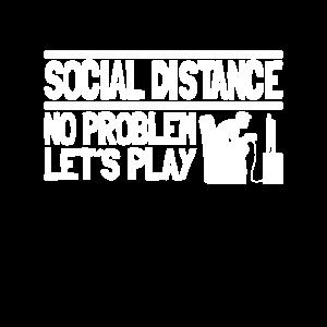Social Distance No Problem Gaming Gamer Corona