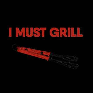 Grillen BBQ Du Kannst Chillen Ich Muss Grillen