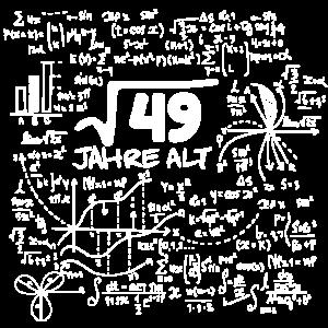 WURZEL 49 = 7 JAHRE MATHE GEBURTSTAG GESCHENK