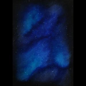 Aquarell Galaxie