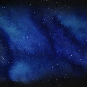 Handgemalte Aquarell Galaxie