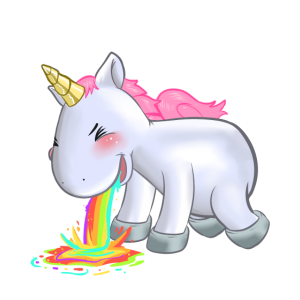 Einhorn Unicorn Humor Mundschutz Party Geschenk