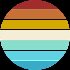 Retro Farben Kreis Universeller Hintergrund