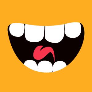 Großer lustiger Mund als Maske