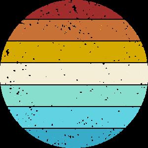 Retro Color Circle Vintage Look Basic Background