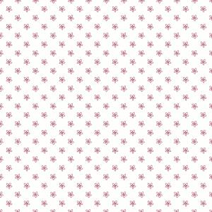 weiß mit rosa Blümchen
