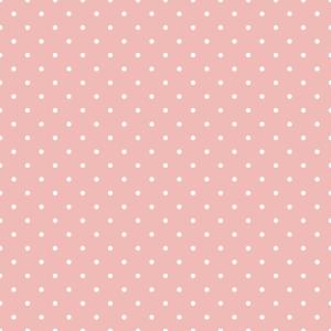rosa mit weißen Pünktchen dezent