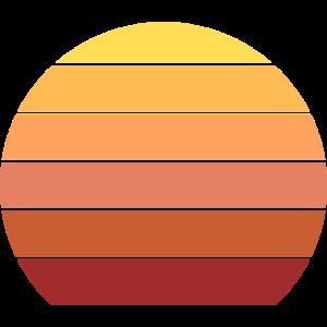 Retro Color Sonnenuntergang Kreis Hintergrund