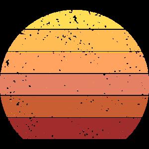 Retro Color Sonnenuntergang Vintage