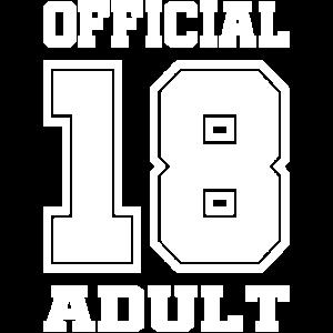 18. Geburtstag 18 Jahre Erwachsen