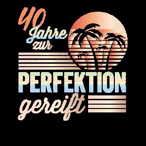 40. Geburtstag Männer Retro Perfektion Juli 1980