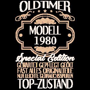 40. Geburtstag Männer Oldtimer Modell 1980