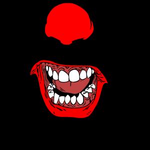 Psycho Killer Clown Böser Horror Clown, Smileyface