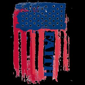 Glaube amerikanische Flagge