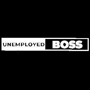 Unemployed Boss Chef auf Arbeitssuche Arbeitslos