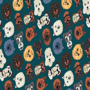 Hundekopf Muster