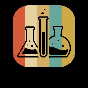 Chemiker Reagenzglas Retro Vintage