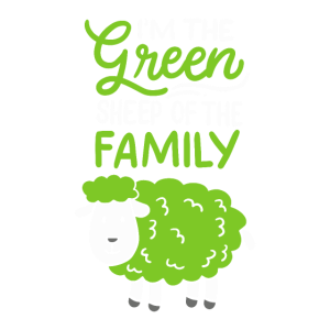 Schaf: I'm The Green Sheep Of The Family