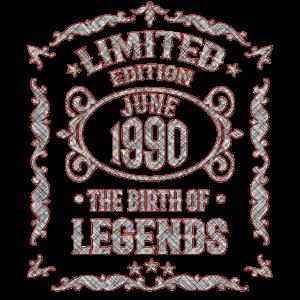 Jahrgang 1990 30. Geburtstag Geschenk Geboren 1990