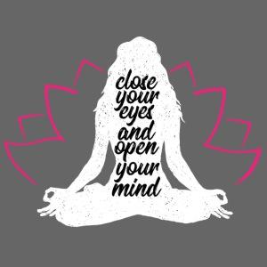close your eyes white yoga peace love sport art