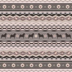 Mops - Dekoratives Muster in Pastellfarben