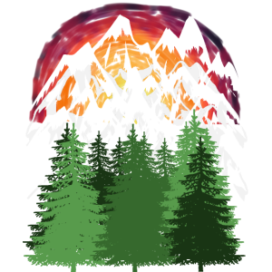 Bergsteiger Berg Natur Wald Bäume Gipfel Sonne