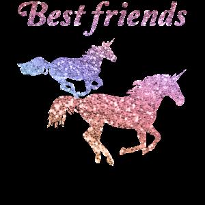 Best Friends Beste Freunde Freundschafts Einhorn